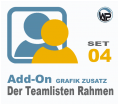 Teamliste und Hörergalerie Rahmen Set 04