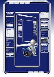 W-P Blue Moon (white), Fun-Template für das CMS Portal V2