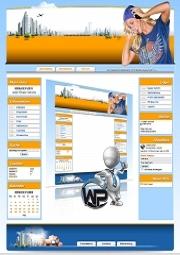 W-P Yellow-Blue, Musik-Template für das CMS Portal V2