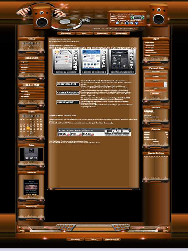 Music Template-Orange 007