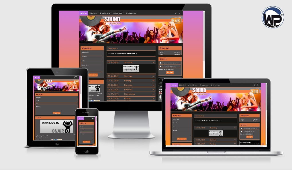 Musik Template 24 - CMS Portal Mobile