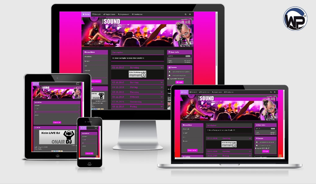 Musik Template 27 - CMS Portal Mobile