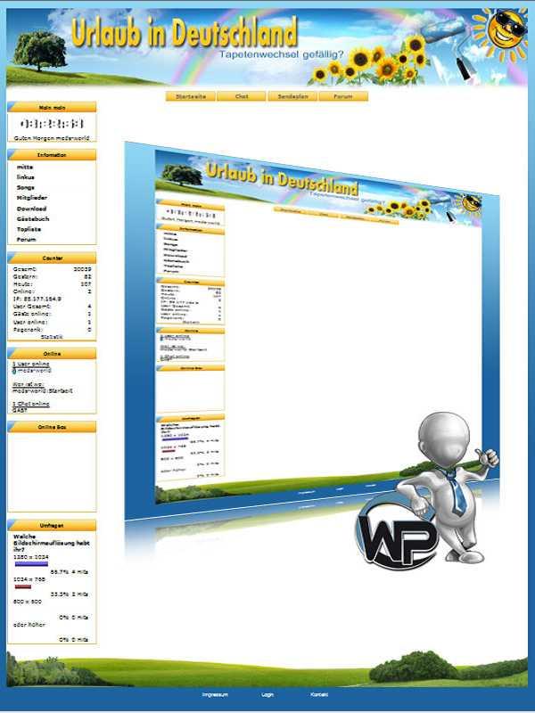 W-P FeWo, Urlaub&Ferien-Template für das CMS Portal V2