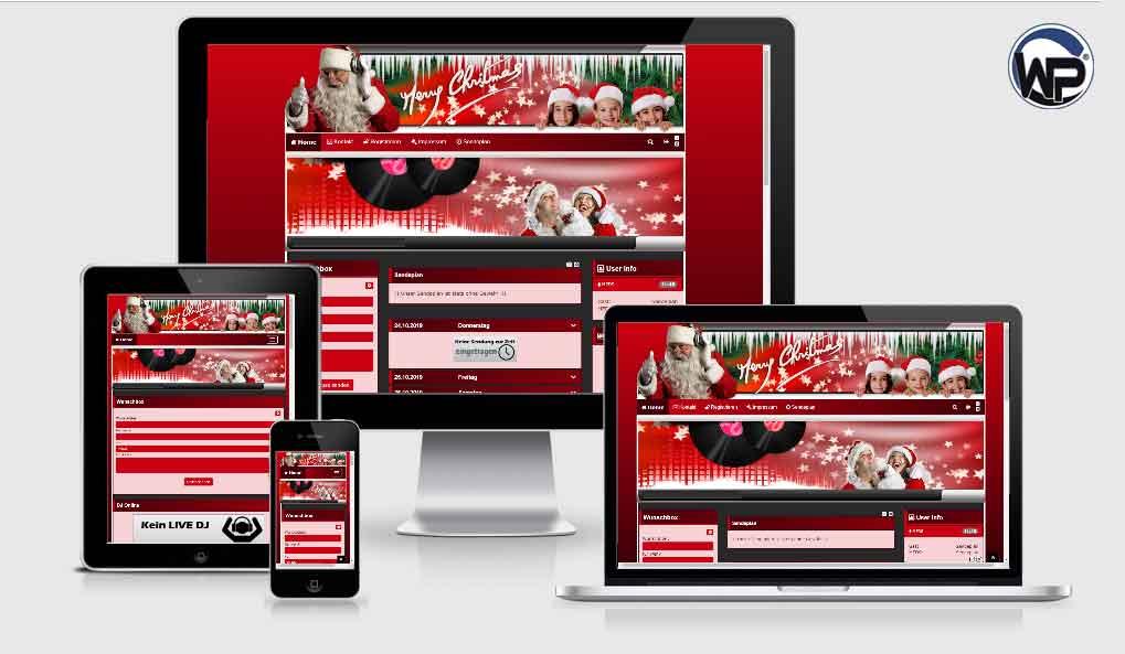 101 Xmas Template 01 - CMS Portal Mobile