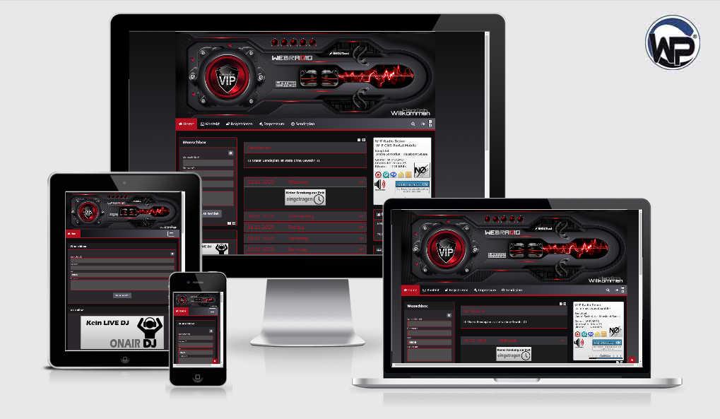 Radio Template Solo03 - CMS Portal Mobile