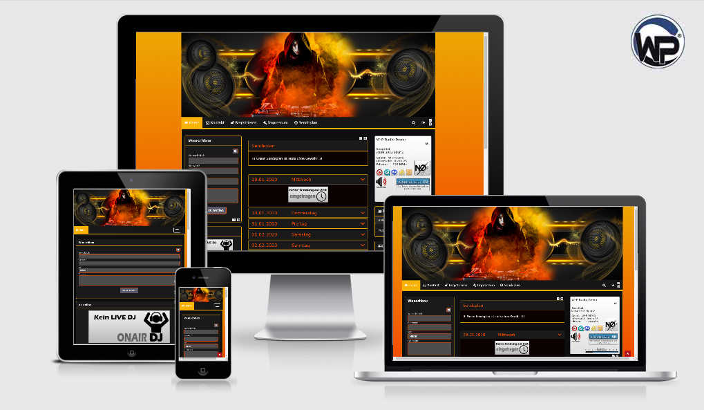 Radio Template Solo06 - CMS Portal Mobile