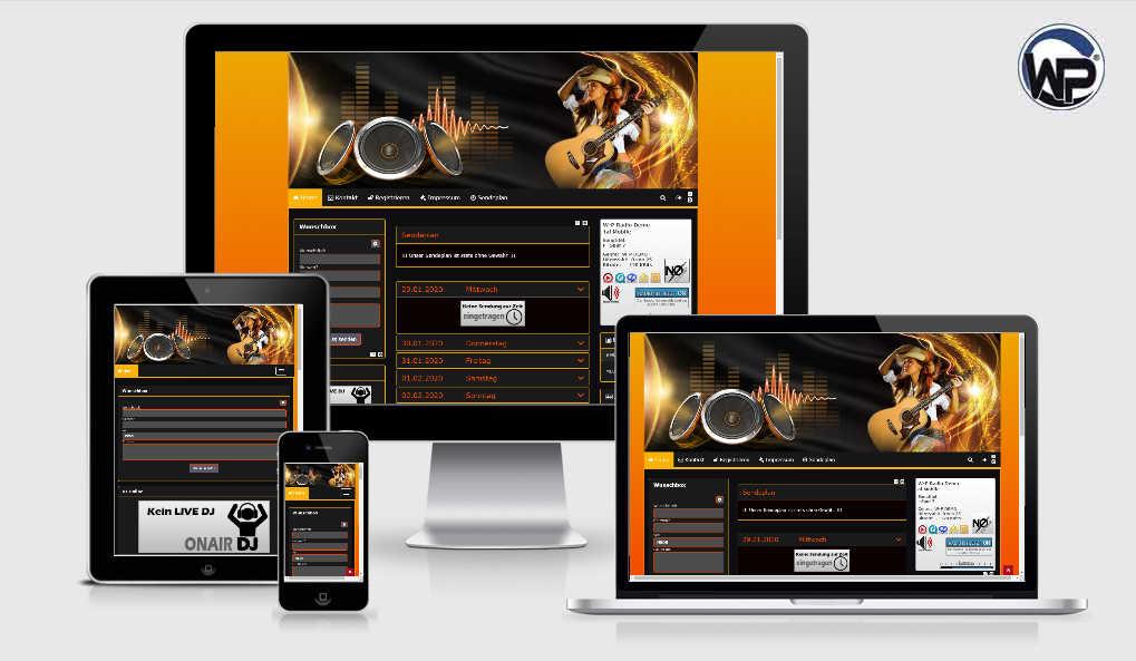 Radio Template Solo07 - CMS Portal Mobile