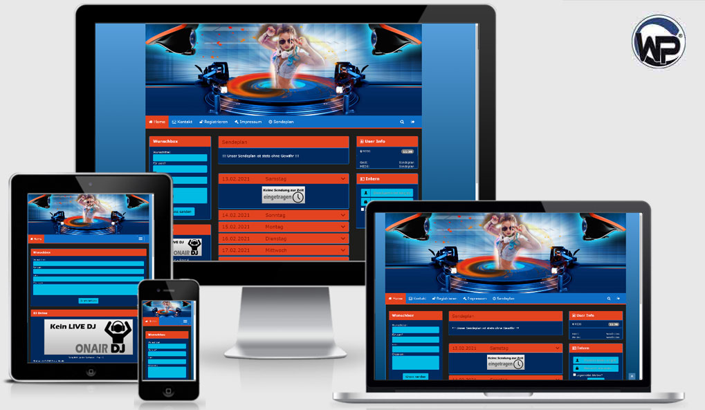 Radio Template Solo23 - CMS Portal Mobile
