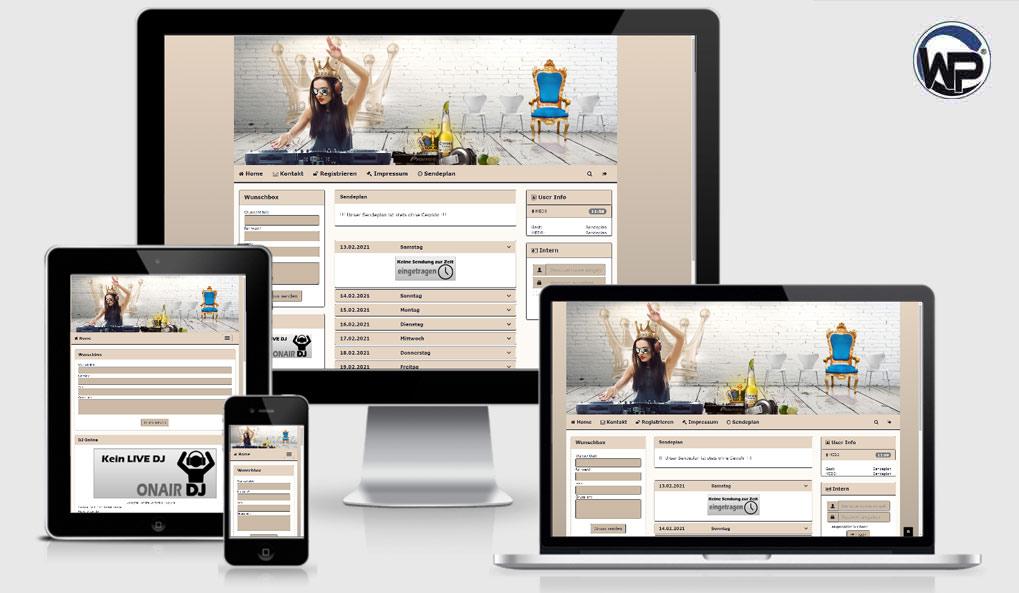Radio Template Solo24 - CMS Portal Mobile