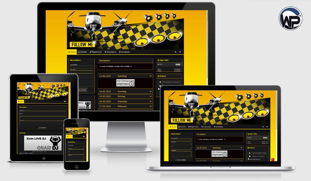 Radio Template Solo32 - CMS Portal Mobile