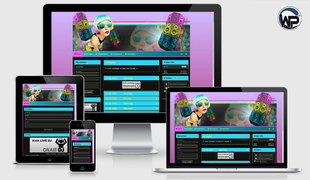 Radio Template Solo33 - CMS Portal Mobile
