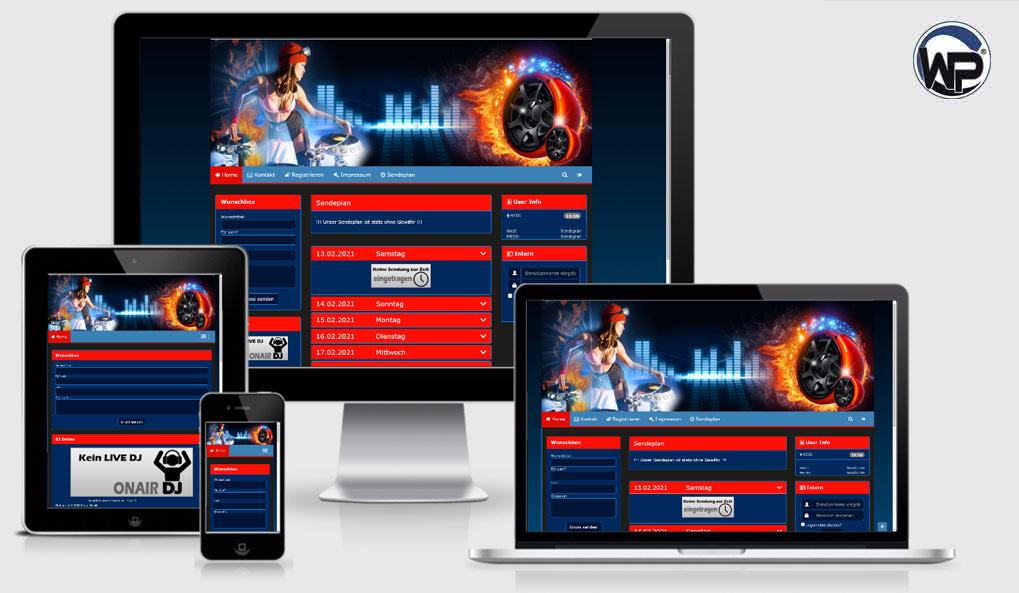 Radio Template Solo34 - CMS Portal Mobile