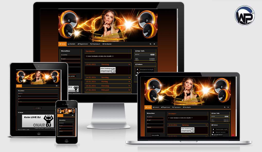 Radio Template Solo35 - CMS Portal Mobile