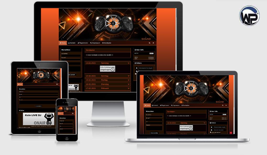 Radio Template Solo36 - CMS Portal Mobile