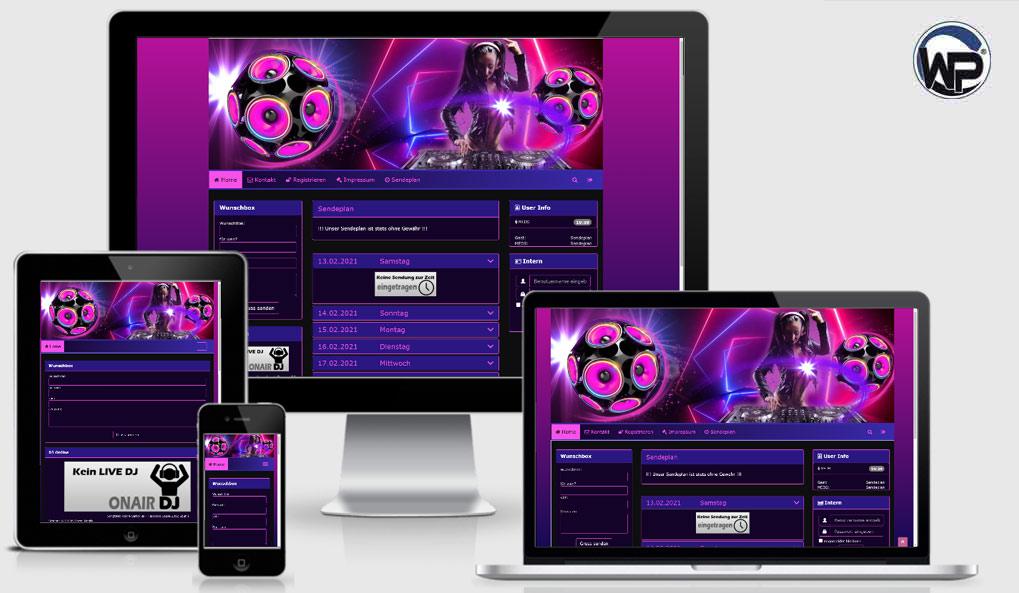 Radio Template Solo38 - CMS Portal Mobile