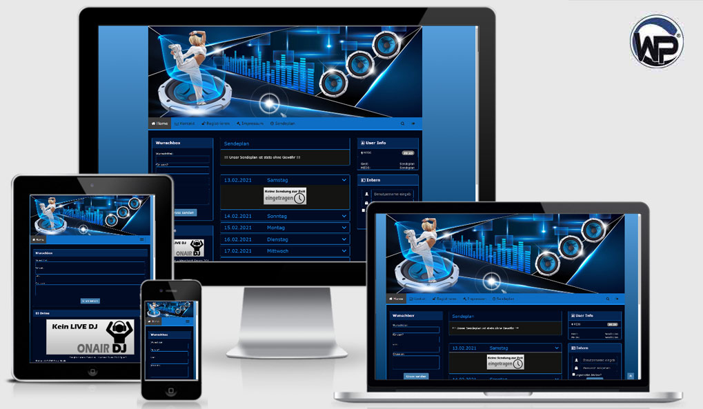 Radio Template Solo39 - CMS Portal Mobile