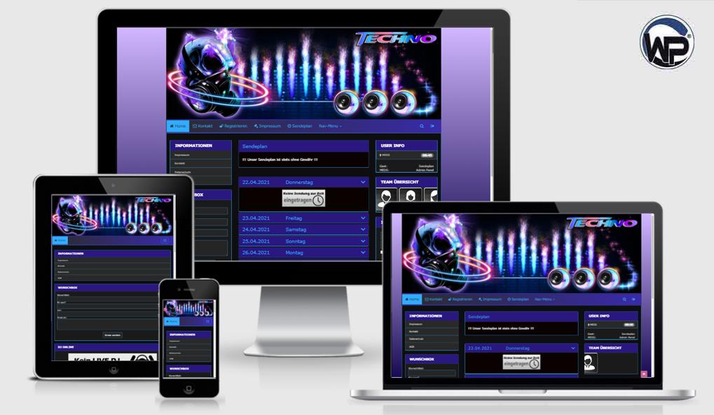Radio Template Solo41 - CMS Portal Mobile