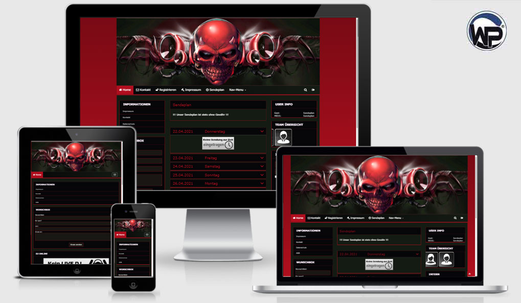 Radio Template Solo42 - CMS Portal Mobile