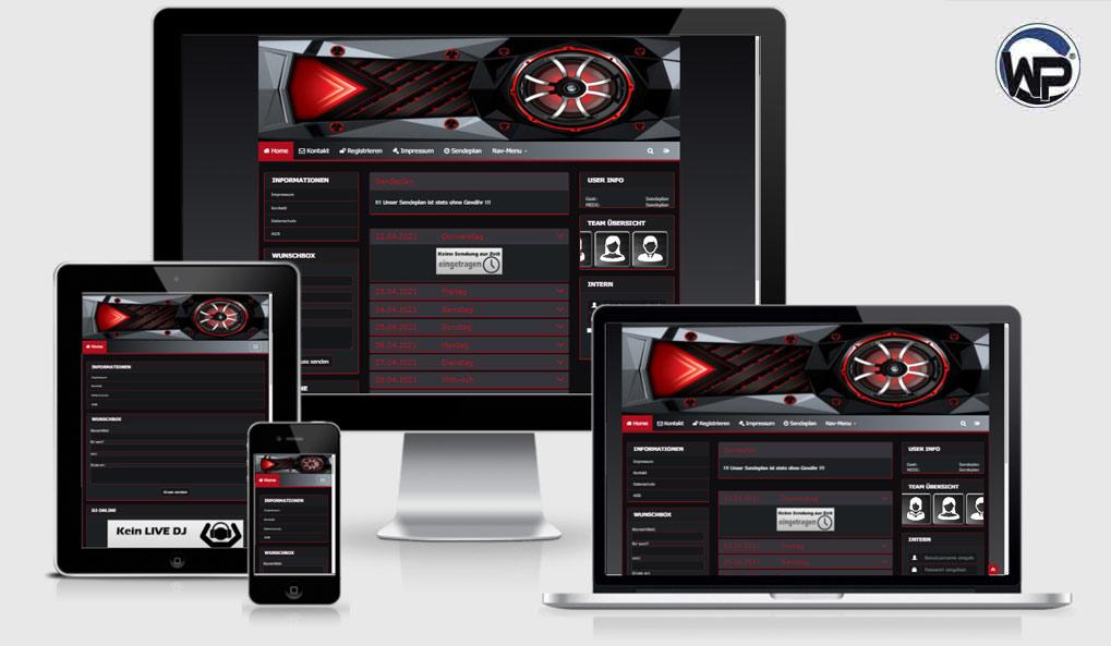 Radio Template Solo55 - CMS Portal Mobile