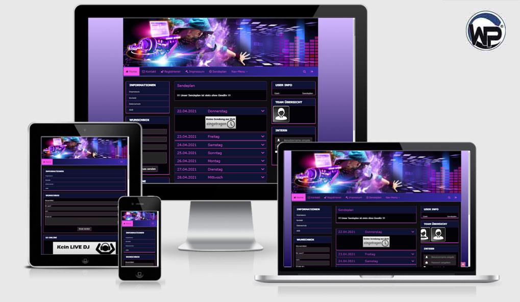 Radio Template Solo57 - CMS Portal Mobile