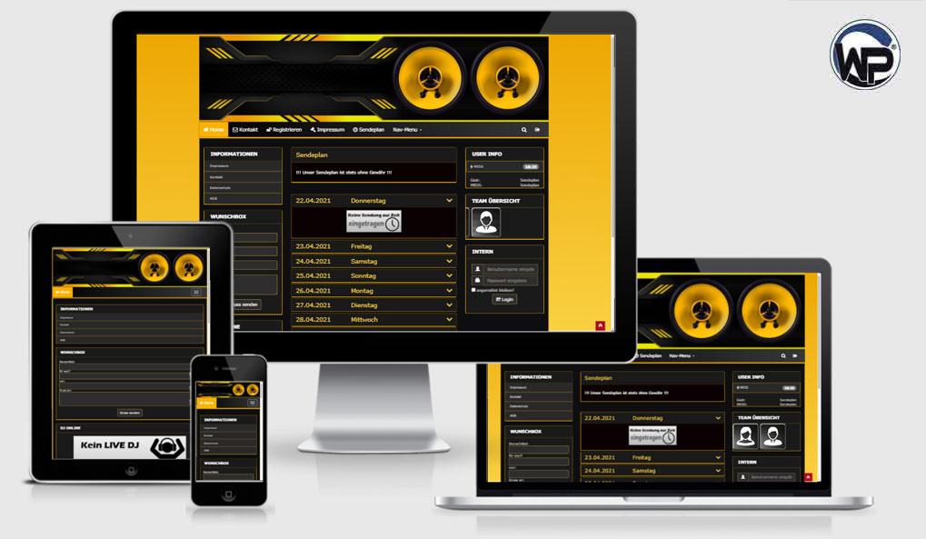 Radio Template Solo58 - CMS Portal Mobile
