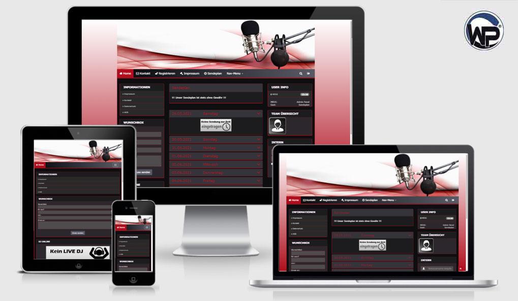 Radio Template Solo61 - CMS Portal Mobile