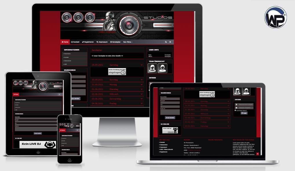 Radio Template Solo64 - CMS Portal Mobile