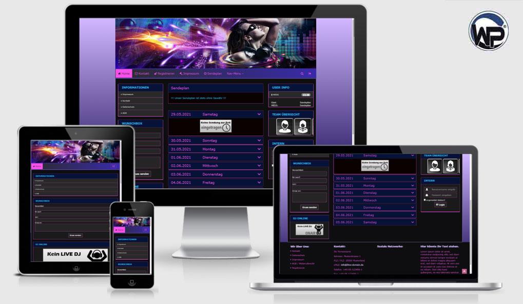 Radio Template Solo65 - CMS Portal Mobile