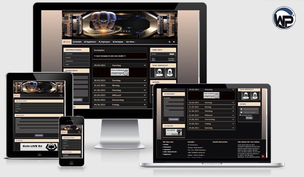 Radio Template Solo66 - CMS Portal Mobile