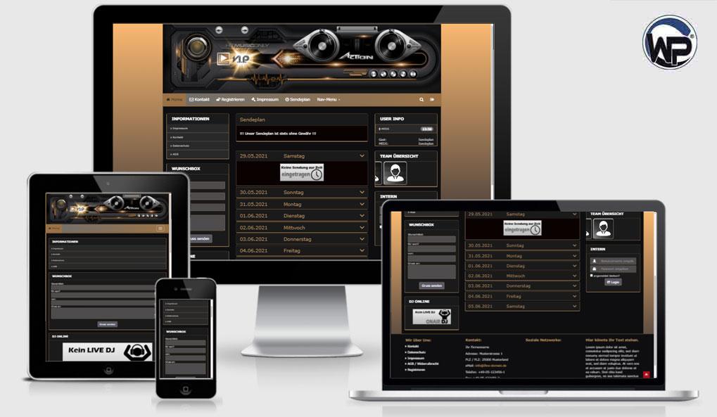 Radio Template Solo67 - CMS Portal Mobile