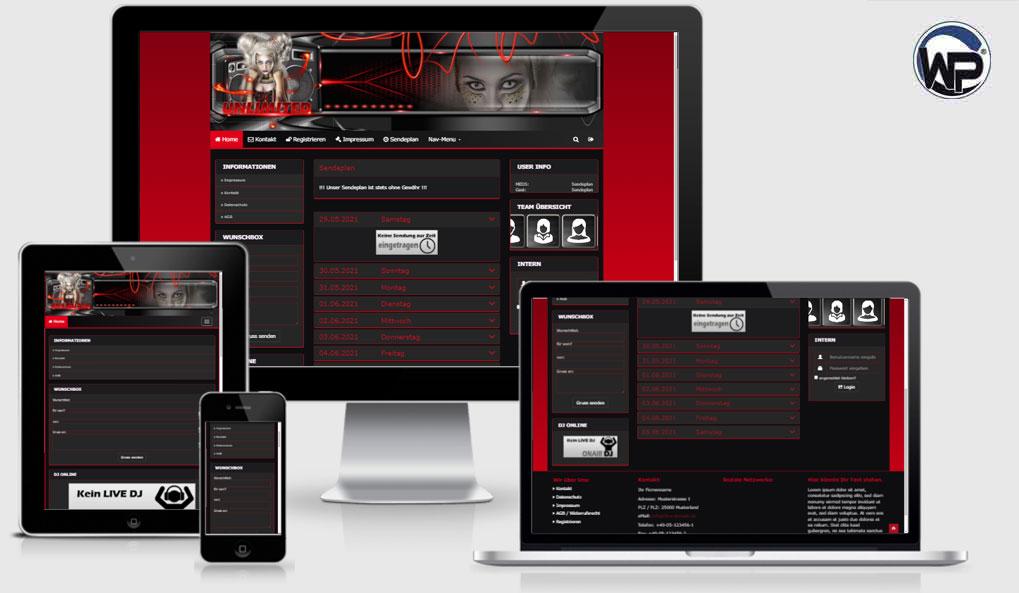Radio Template Solo68 - CMS Portal Mobile