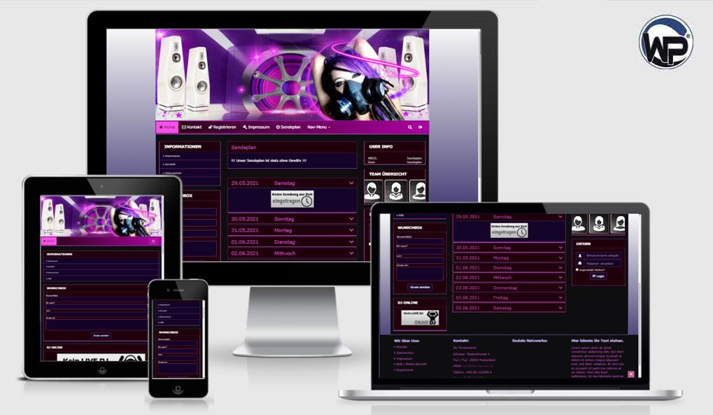 Radio Template Solo70 - CMS Portal Mobile