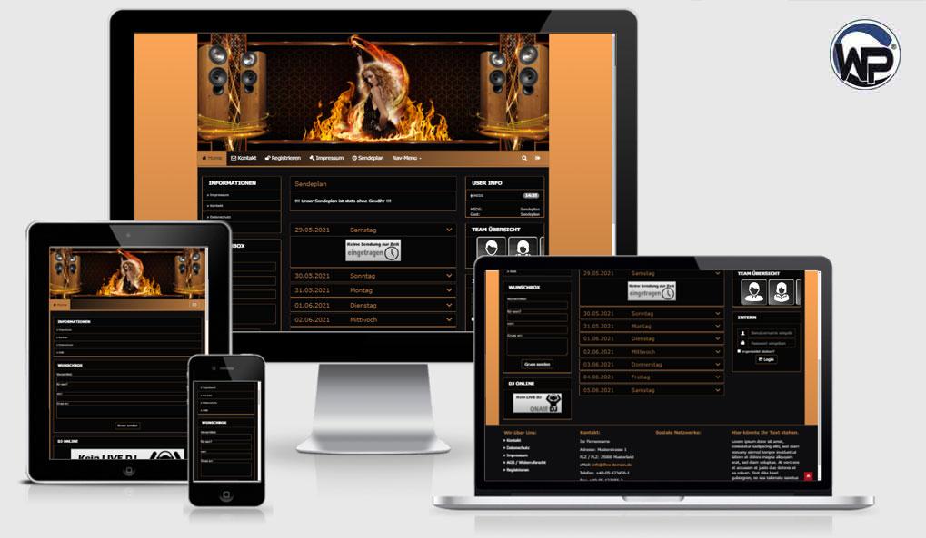 Radio Template Solo73 - CMS Portal Mobile