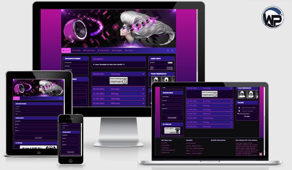 Radio Template Solo76 - CMS Portal Mobile