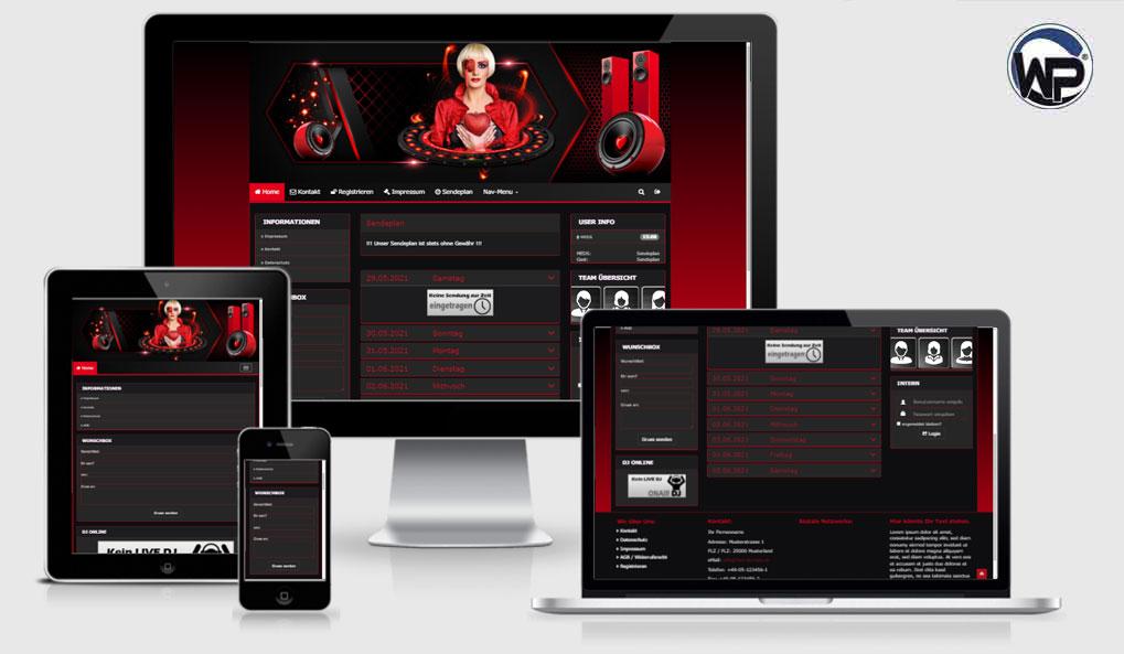Radio Template Solo77 - CMS Portal Mobile