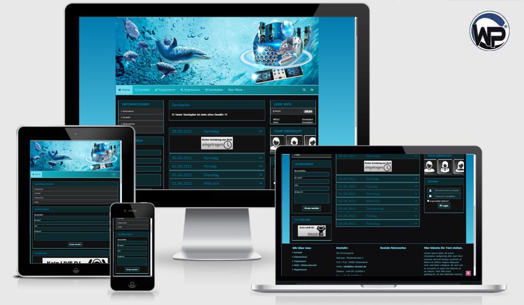 Radio Template Solo78 - CMS Portal Mobile
