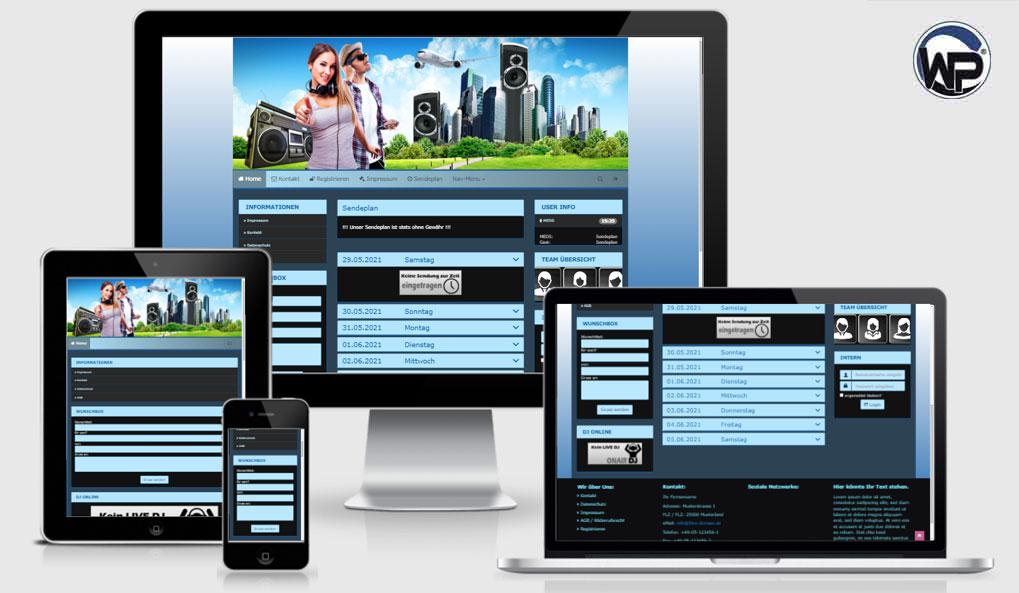 Radio Template Solo79 - CMS Portal Mobile