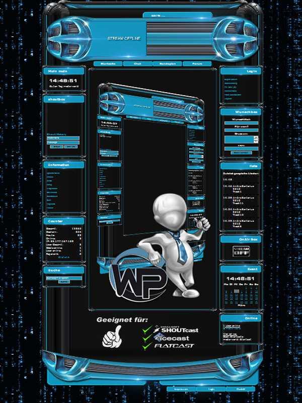 W-P Blue Matrix, SiFi-Template für das CMS Portal V2