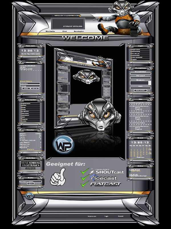 W-P Cyber Bot, SiFi-Template für das CMS Portal V2