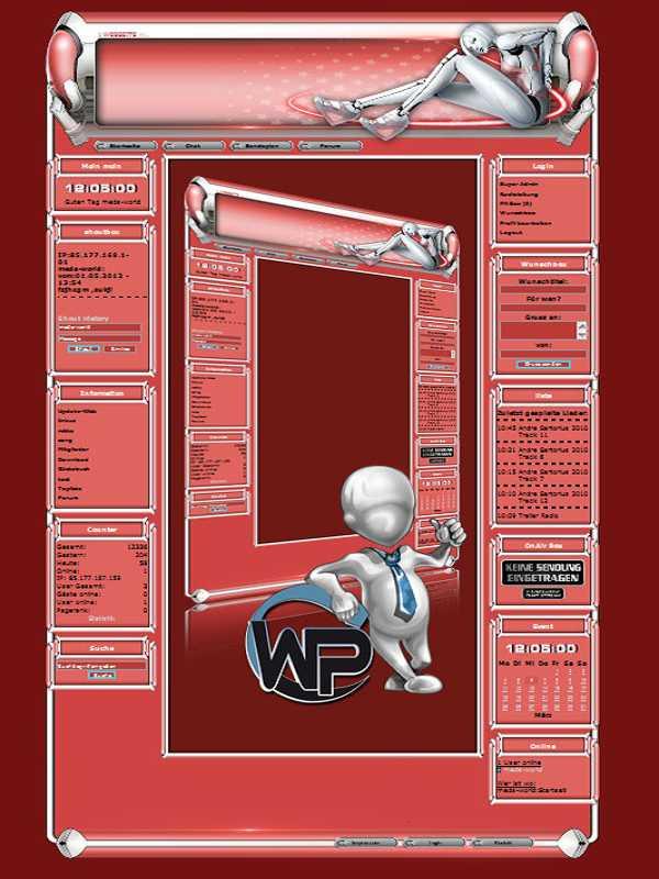 W-P Cyber Girl, SiFi-Template für das CMS Portal V2