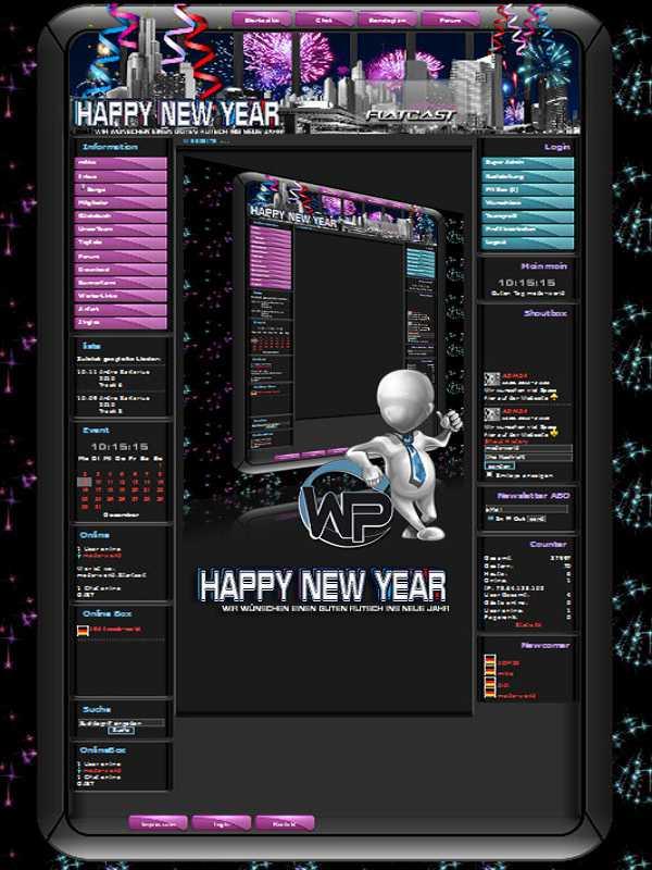 W-P Feiertage, Happy New Year-Template für das CMS Portal V2