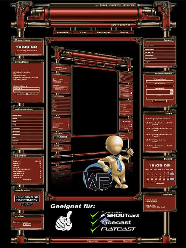 W-P Steam Engine (red), SiFi-Template für das CMS Portal V2