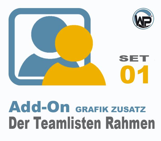 Teamliste und Hörergalerie Rahmen Set 01