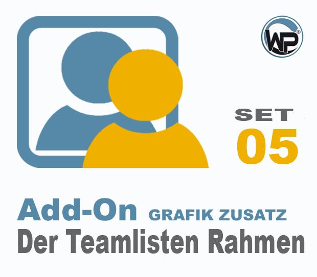 Teamliste und Hörergalerie Rahmen Set 05