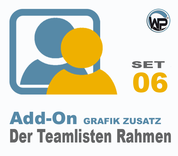 Teamliste und Hörergalerie Rahmen Set 06