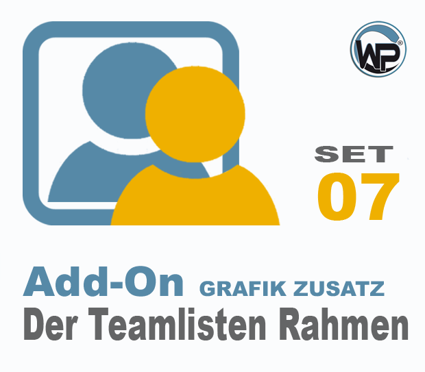 Teamliste und Hörergalerie Rahmen Set 07
