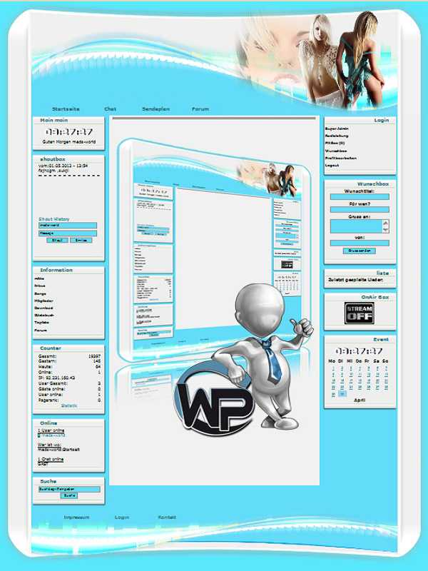 W-P Beauty, Fun-Template für das CMS Portal V2