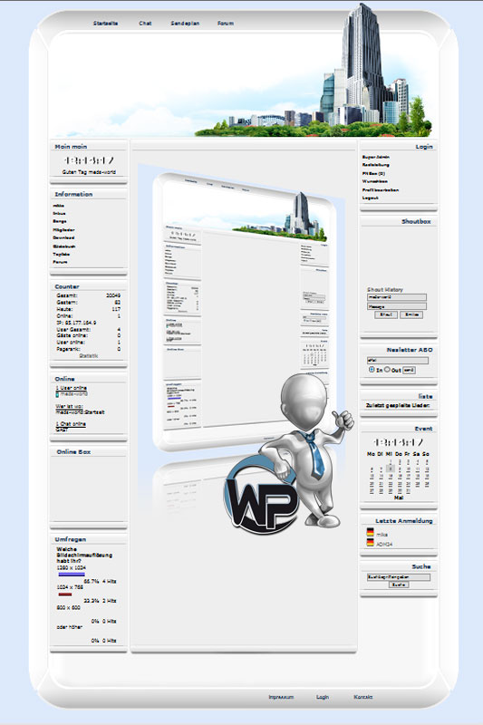 W-P Big City, Business-Template für das CMS Portal V2