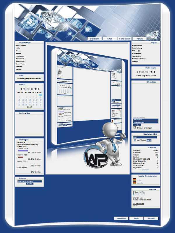 W-P Diamant, Fun-Template für das CMS Portal V2