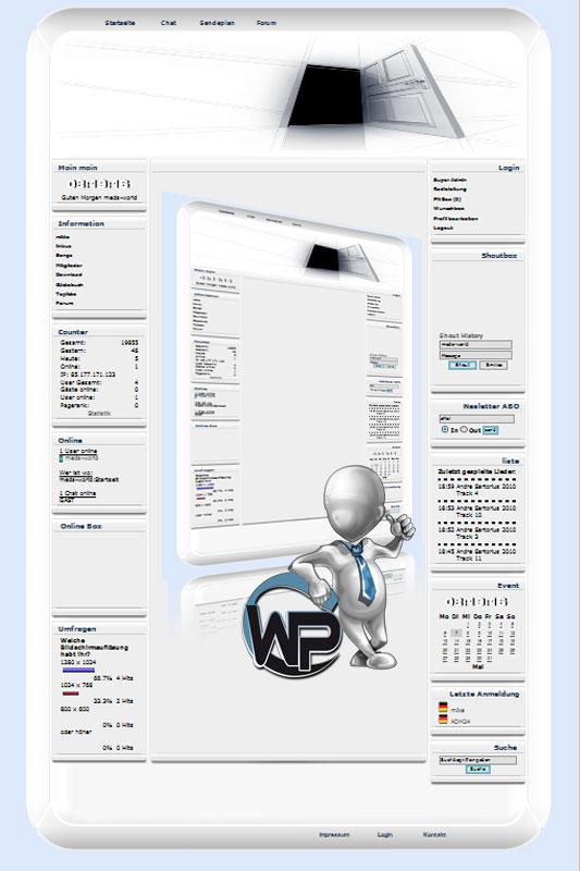 W-P Door, Fun-Template für das CMS Portal V2